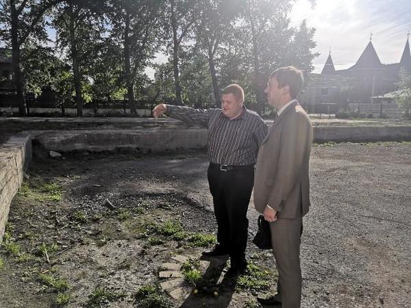 На территории лицея Советского района планируется учебная аудитория под открытым небом